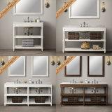 Fed-1997 armários de banheiro brancos modernos da qualidade superior de dissipadores dobro de 72 polegadas