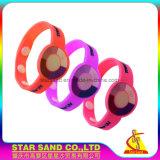 Silikon-Gummi Belüftung-UVprüfvorrichtung-Handgelenk-Band, Sun-Fühler-Armband