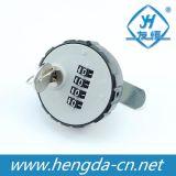 Verrouillage combiné en combinaison ronde en plastique avec noyau de verrouillage (YH1210)