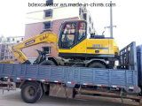 中国保定の構築機械装置の車輪の掘削機8ton/0.4m3のバケツ
