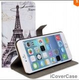 공장 Wholesell 에펠 탑, 빅 벤, 5.5 플러스 iPhone 6을%s 자유 지갑 가죽 상자