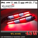 48W LED Warning Dash Visor Light con Suction Cup
