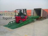 Plate-forme de chargement et déchargement de conteneurs, pont d'embarquement de rampe