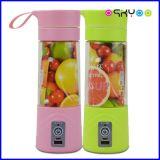 소형 휴대용 주스 컵은 전기 Juicer 갈퀴 이동 전화 힘 은행에 의하여 열매를 맺는다