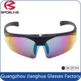 La vue noire de la meilleure qualité de verres de sûreté de la soudure Anti-UV400 a polarisé la pêche de recyclage de lentille augmentant le déplacement soulèvent vers le haut l'enveloppe autour des lunettes de soleil