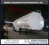 acoplado inoxidable del tanque de acero del almacén líquido del petróleo 45cbm semi