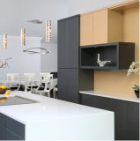 Gabinete de cozinha de madeira moderno Home antigo clássico do bloco liso