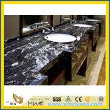 De zilveren Marmeren Plakken van de Draak voor Keuken, Badkamers, Afwasmachine (yy-CT8604)