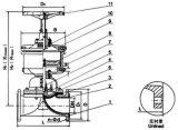 """Valvola a diaframma pneumatica con la flangia G641f (1/2 """" - 10 """")"""