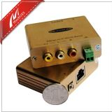 1 CH Composite Video 또는 Stereo Audio와 IR Extender Over Cat5e/6