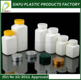 HDPE 150ml rechteckiger Plastikbehälter mit normaler Überwurfmutter