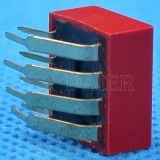 SMD Terminal Right Angle DIP Switch met 2~12 Positions