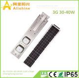 2018 nuovo tutti in un indicatore luminoso di via solare Integrated di disegno 30W con i chip di 160lm/W 3030 LED