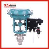 En acier inoxydable de vanne de commande automatique de sanitaires de la membrane avec positionneur 4~2mA