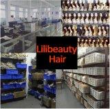 Lilibeautyの工場卸売100%の加工されていないバージンの人間の毛髪の完全なレースのかつら