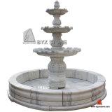 大理石または花こう岩装飾のための石造り象水庭の噴水