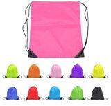 O saco de nylon da promoção do saco de compra do saco de Drawstring ostenta o saco das sapatas do saco