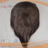 レースの前部上塗を施してある背部完全な人間の毛髪メンズかつら(PPG-l-01483)