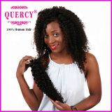 Девственницы человеческих волос Remy девственницы Weave волос скручиваемости волос Quercy волосы 100% Kinky бразильской бразильские Kinky курчавые