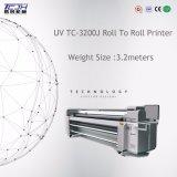 impressora UV do rolo Flatbed híbrido da impressora do grande formato de 3200mm