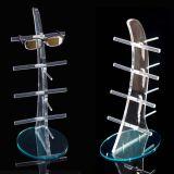 Présentoir acrylique créateur fait sur commande de lunetterie, crémaillère d'étalage de Sunglass