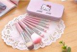 Ciao la mini bellezza professionale stabilita delle spazzole di trucco del fondamento di colore rosa 7PCS del kit della spazzola del gattino compone lo strumento