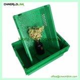 De HDPE Nestable plástico populares malha vegetais alimentares Armazenamento Bin