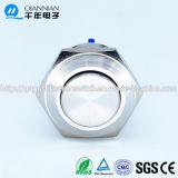 Qn16-A3 16mm Momentanés vis à tête surélevée borne de commutateur à bouton poussoir en métal étanche