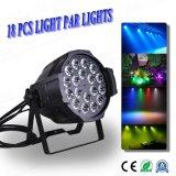 Professional 18pcs 6en1 10W LED peut Rgbwauv par la lumière
