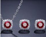 La mode rectangle CZ bijoux collier pendentif Earring Set CZ Ensemble de collier de la mode nuptiale Ensemble de collier pendentif bijoux de mode fashion Don Necklace