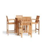 Insieme esterno della Tabella pranzante del giardino della mobilia del teck