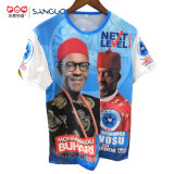 Presidente di base personalizzato promozionale poco costoso di stampa del poliestere della maglietta di elezione