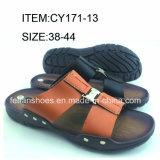 Модные мужчин тапочки PU сандалии оптовой Flip флопа (FFCY0307-03)