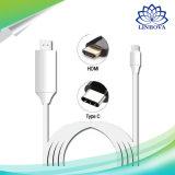 2m 3m Reversible-Typ Typ C c-Verbinder USB-3.1 bis HDTV-Kabel für Handy-Kabel Samsung-S8 Xiaomi Mi5 USB-C