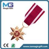 短いリボンが付いている熱い販売胸の金属の星の軍隊メダル