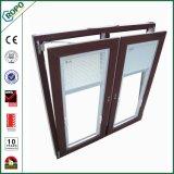 방음 PVC 단면도 두 배 유리제 장님 안쪽 Tilt& 회전 Windows
