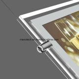 Caixa de luz LED acrílico Slimline com abertura magnética