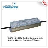 excitador impermeável atual constante programável ao ar livre do diodo emissor de luz de 200W 0.84A 142~285V