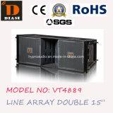 Vt4889 удваивают линия блок 15 дюймов трехходовая, линия система блока, напольная польза, ПРОФЕССИОНАЛЬНЫЙ звук