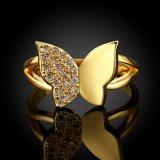 Basisrecheneinheits-Form-Diamant-Frauen-Ring-Rosen-Gold überzog Zircon-Legierungs-geöffnete Ringe
