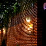 Lumière de mur de jardin d'éclairage du panneau solaire DEL de lumière de détecteur de DEL