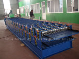 Metal de color teja formando rollos en frío que hace la máquina para la construcción de la estructura de acero