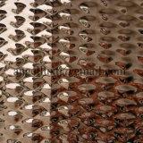 壁パネルのためのEmbossed+Mirrorの終わり4X8のステンレス鋼の装飾的なシート