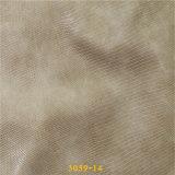 Горячая обувная кожа PU материалов тканиь сбывания с картиной ящерицы