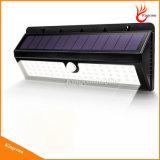 Lámpara solar solar del sensor de movimiento de la luz del jardín de 900 lúmenes