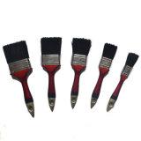 Spazzola piana verniciata miscela nera professionale della maniglia di legno della setola (GMPB010)
