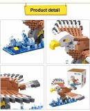 6739546-Eagle style cartoon Building brique ABS - 340pcs - Colormix