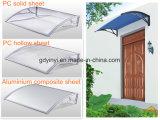 Euro-Progettare il baldacchino di plastica di DIY del nero esterno del PC per il portello o la finestra (YY900-M)