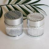 choc crème de produits de beauté acryliques d'argent de 50g Matt avec la boucle (PPC-NEW-102)