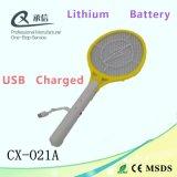 USB에 의하여 비용이 부과되는 전기 모기 살인자 박쥐, 재충전용 구충제 Swatter 중국 최신 판매